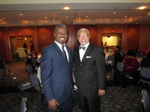 Dr. Walter Fluker (right), Martin Luther King, Jr. Professor at Boston University.